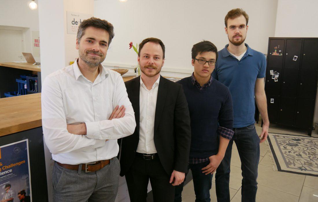 Sascha Rudolph and NovelSense Team at the Zollhof Incubator in Nuremberg