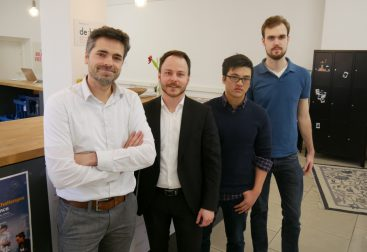 Sascha Rudolph and NovelSense Team at the Zollhof Incubator in Nuremberg